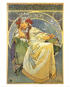 Mucha print from Dover Pictura