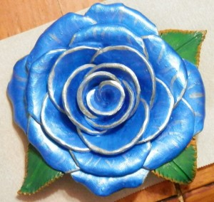 Blue rose by Danielle Ross